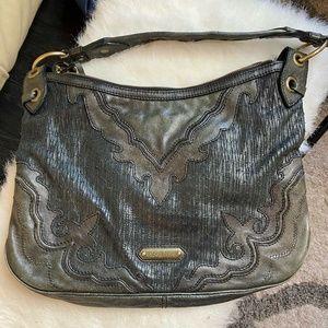 Isabella Fiore - Large Black Leather Shoulder Bag